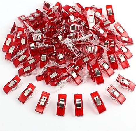 100x Top Wonder Clips Nähklammern Stoffklammern Nähzubehör WonderClips