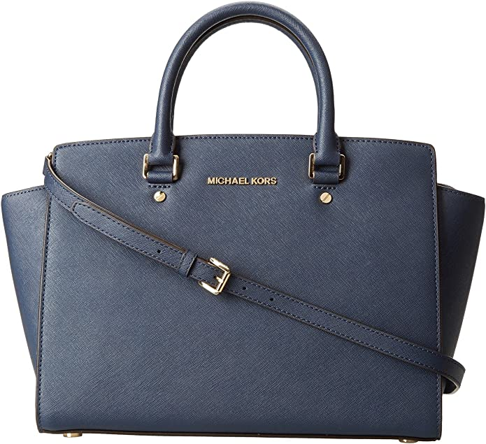 Michael Kors Damen Jet Set Large Top zip Saffiano Leather Tote Schultertaschen, 42x29x12 cm