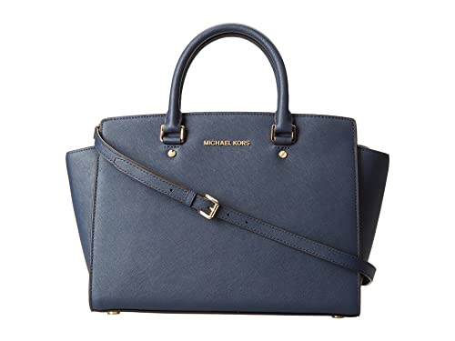 e65d764ca4 Michael KorsSelma Large Top Zip - Borsa a tracolla donna, blu (Navy),  Taglia unica: Amazon.it: Scarpe e borse