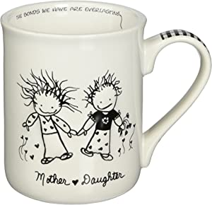 "Enesco Children of The Inner Light Daughter (from Mother) Stoneware Gift Mug, 16 oz, 4.25"" H"