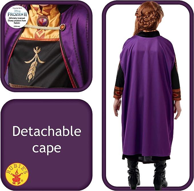 Abito stampato a maniche lunghe nero e viola con motivi di Rubies costume ufficiale di Anna La Regina delle Nevi Rubies