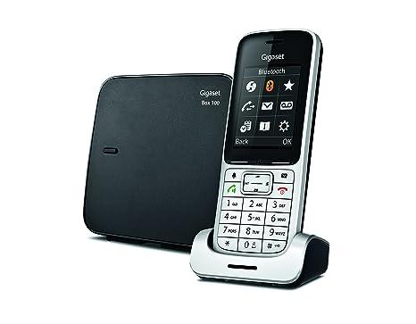 Gigaset SL450 - Teléfono (Analog/DECT, Negro, Plata, TFT, Li