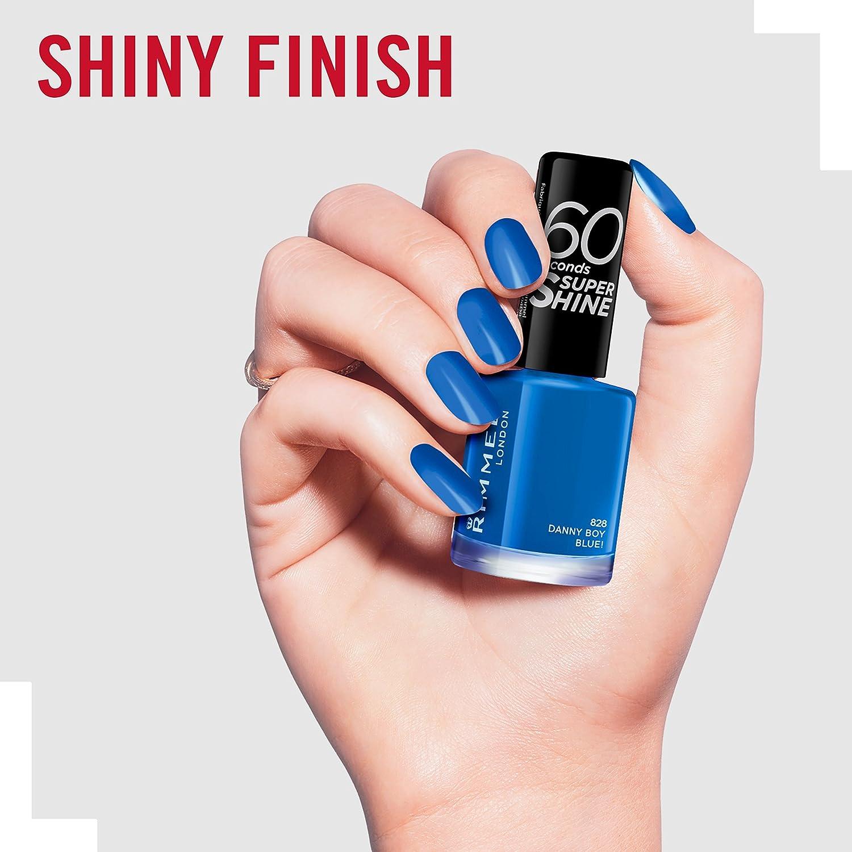 Rimmel Queen Of Tarts, 60 Seconds Super Shine Nail Polish, Blue, 8 ...