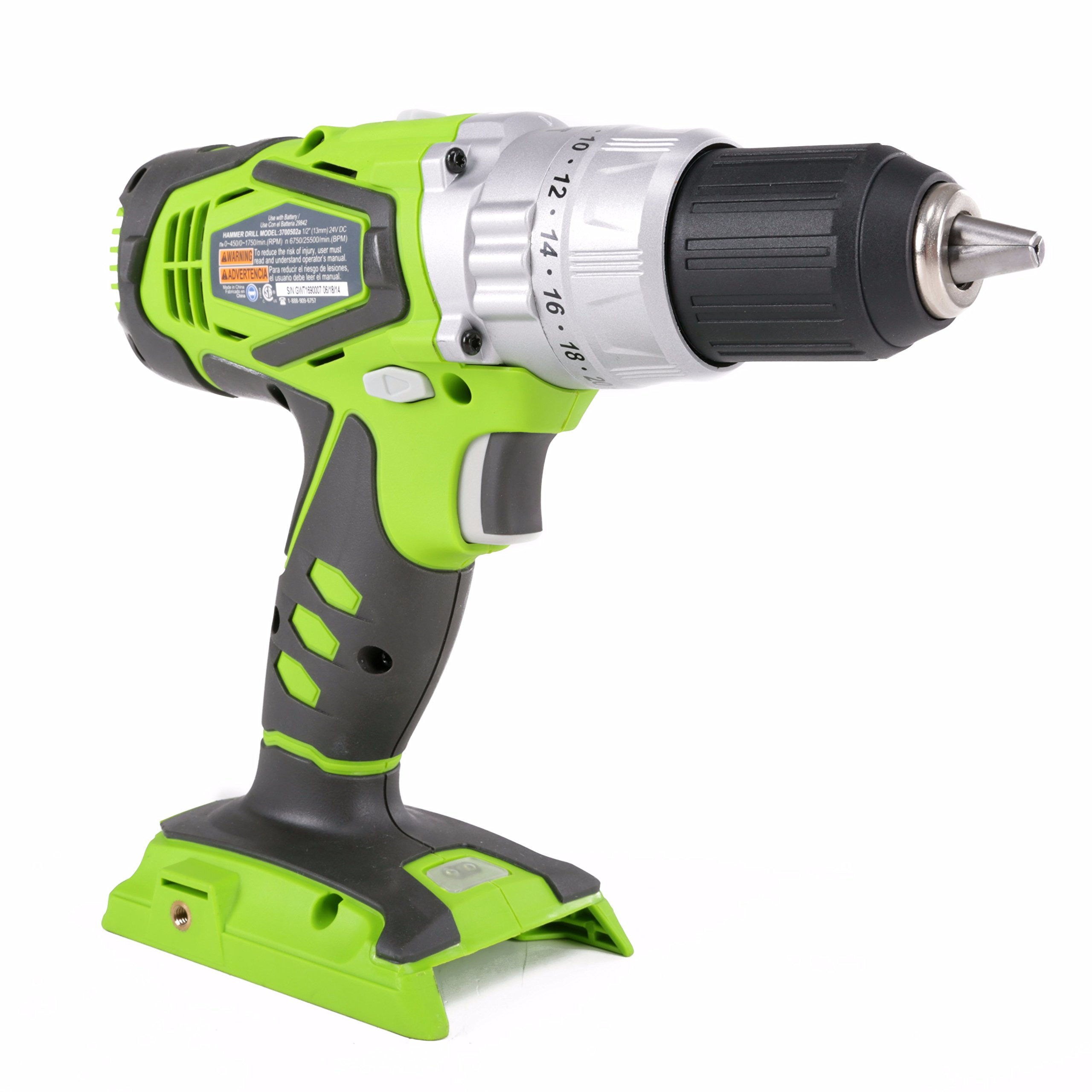 Greenworks 24V 2 speed hammer drill with 2-2.0ah battery and 1- charger by Greenworks (Image #2)