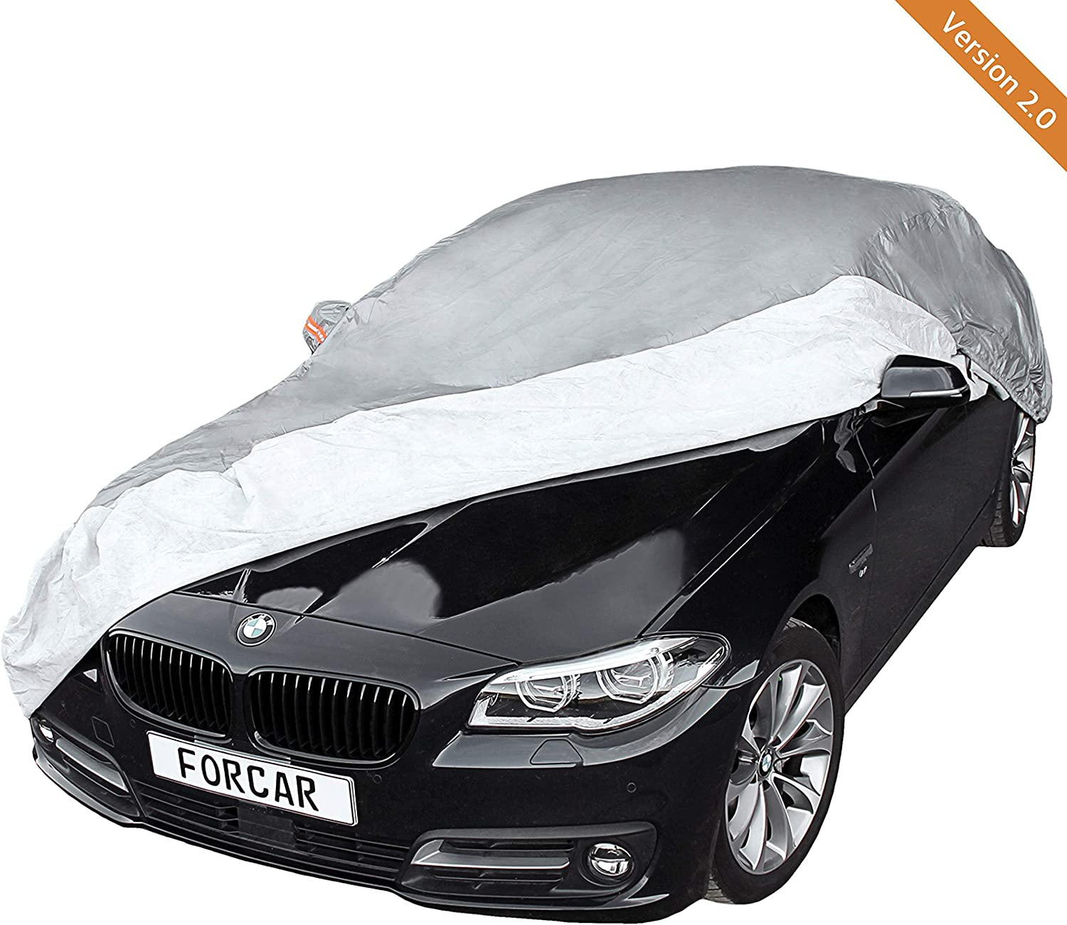 car cover breathable and easy to attach full car cover with cotton lining car cover FORCAR/® premium car cover made and waterproof material version 2019