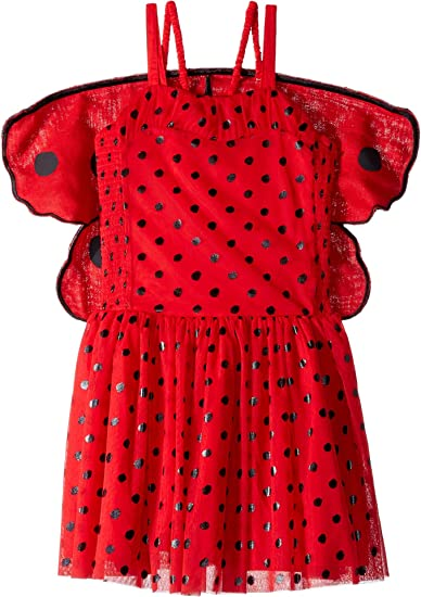 ef02ecb78 Amazon.com: Stella McCartney Kids Baby Girl's Bonny Ladybug Sleeveless  w/Detachable Wings Dress (Toddler/Little Kids/Big Kids): Clothing