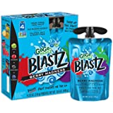 GoGo squeeZ BlastZ Fruit Pouches on the Go, Berry Madness, 3.88 Ounce (4 Pouches), Gluten Free, Vegan Friendly, Unsweetened, Recloseable, BPA Free Pouches (Packaging May Vary)