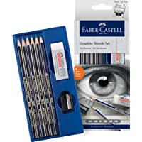 Faber-Castell Creative Studio Mixed Media Graphite Sketch Set 8 pcs, (18-114000)