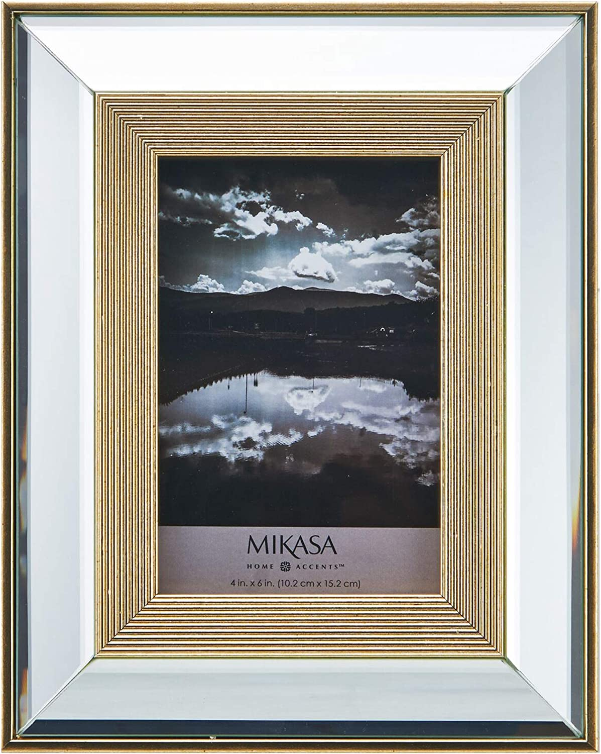 MIKASA Mirror Frame with Easel, Gold