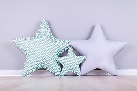 AMI Lian® Set 3 x Cojín Estrella estrellas - Cojín (tejido ...