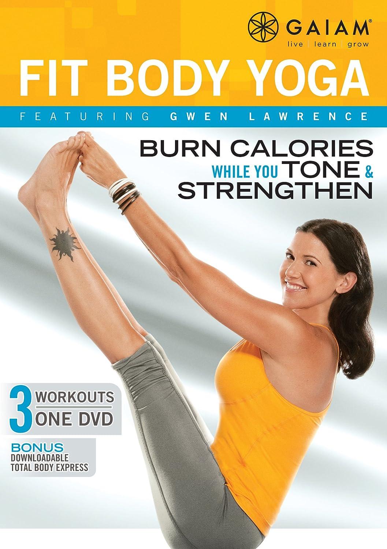 amazon com gwen lawrence fit body yoga dvd gwen lawrence gaiam