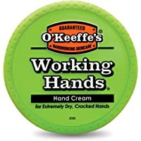 Crema de manos O'Keeffe's Working Hands, tarro de 3.4 onzas, frasco, 1 unidad, naranja, verde (Orange, Green)