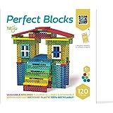 Tegu 120 Piece Perfect Blocks Building Set- Amazon Exclusive, Rainbow