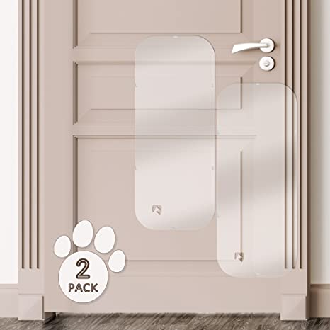 PETFECT Door Scratch Protector   Premium Set Of 2 Dog Door Guards For  Interior U0026 Exterior