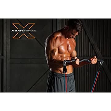 powerful XBAR Fitness Complete 9-Piece Portable Personal Workout System with Resistance Bands