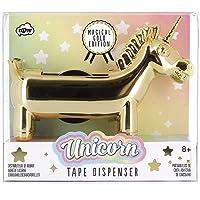 NPW Gold Edition Unicorn Tape Dispenser, Rainbow Tape
