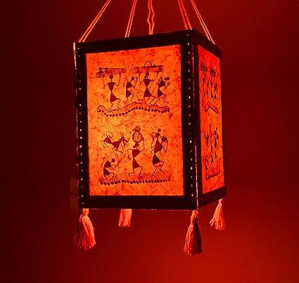 Buy handmade red warli paper diwali lantern lamp lampshade handmade red warli paper diwali lantern lamp lampshade akashkandil akashdiya mozeypictures Image collections