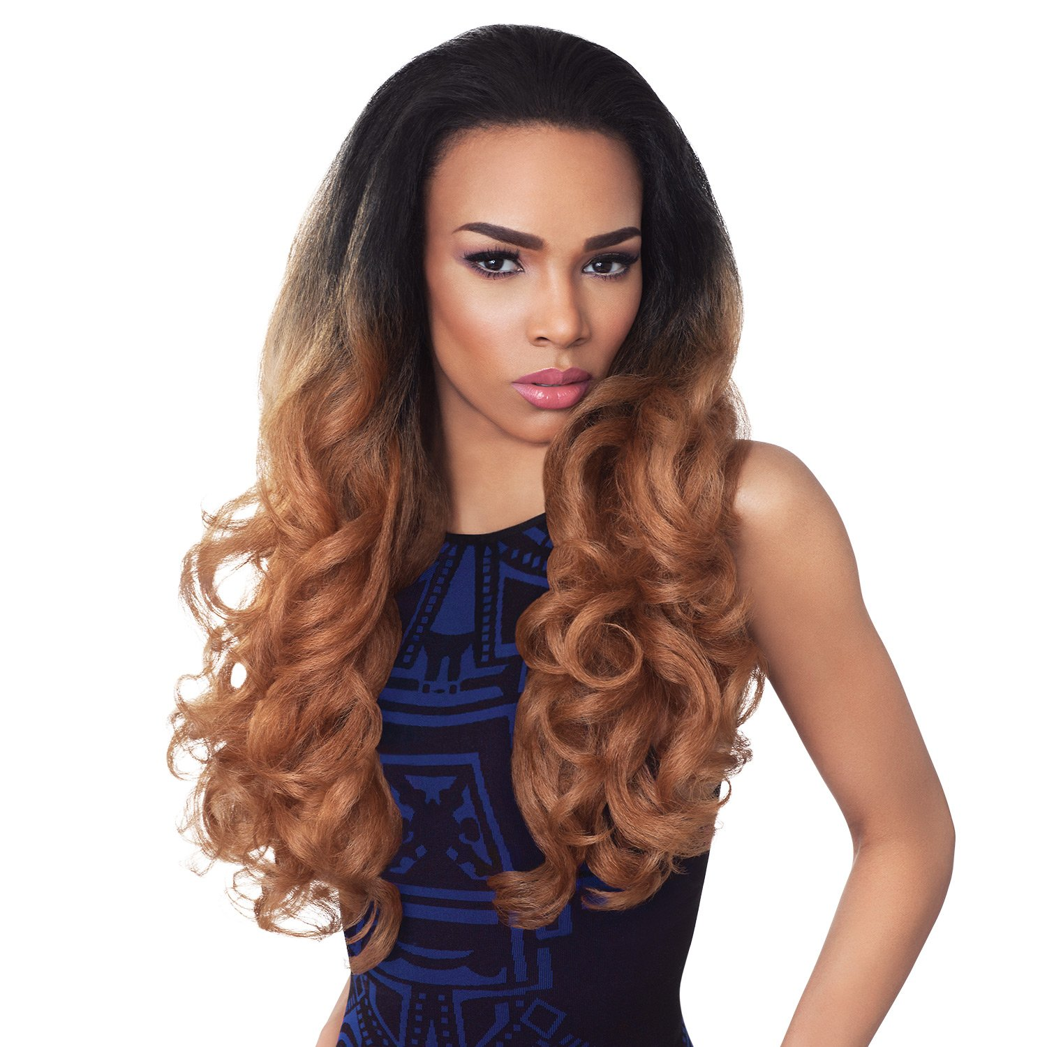 Amazon Outre Synthetic Hair Half Wig Quick Weave Stunna 1b