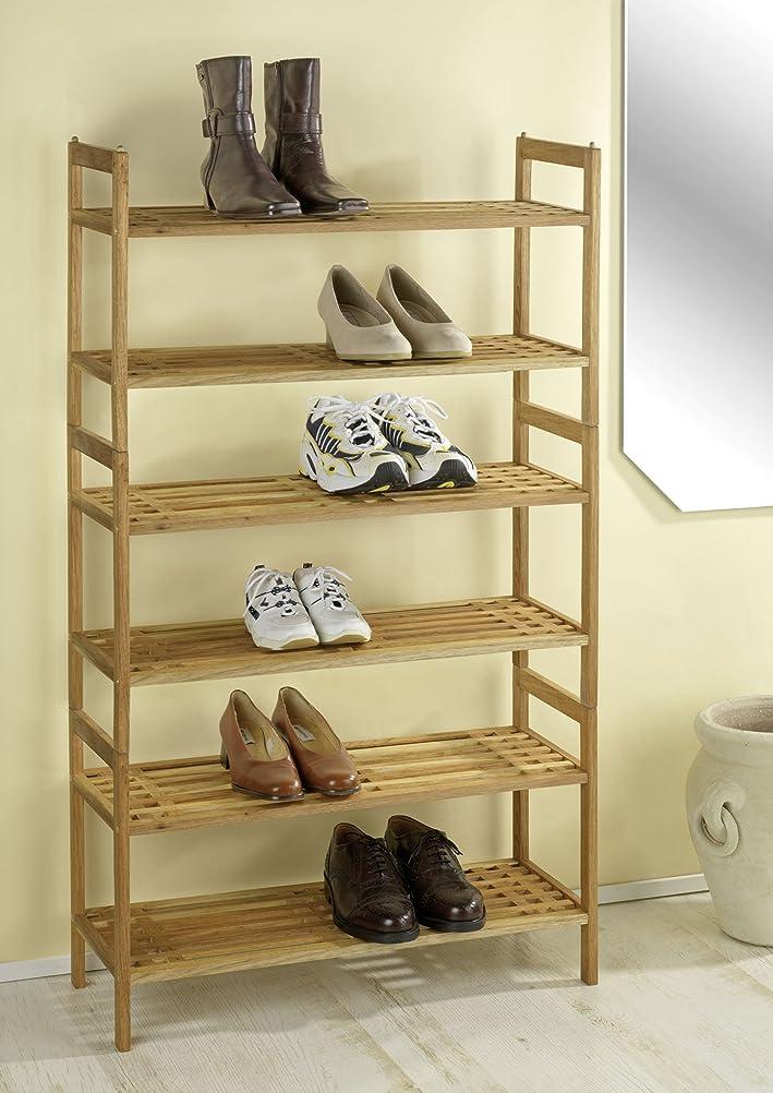 wenko norway walnut wood shoe shelf 69 x 405 x 27 cm amazoncouk kitchen u0026 home