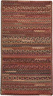 "product image for Harborview Red 9' 2"" x 13' 2"" Cross Sewn Rectangle Braided Rug"