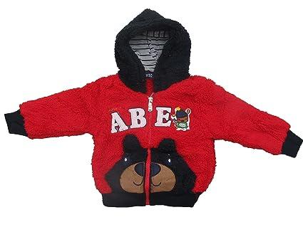 Manta de ensueño Chaqueta oso en rojo, talla 80 – 110 estampada rojo Talla:
