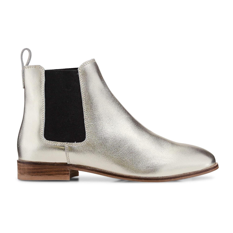 Cox Damen Chelsea-Stiefel aus Leder, Stiefelette in Gold Gold Gold mit Stretch-Einsatz b230e8