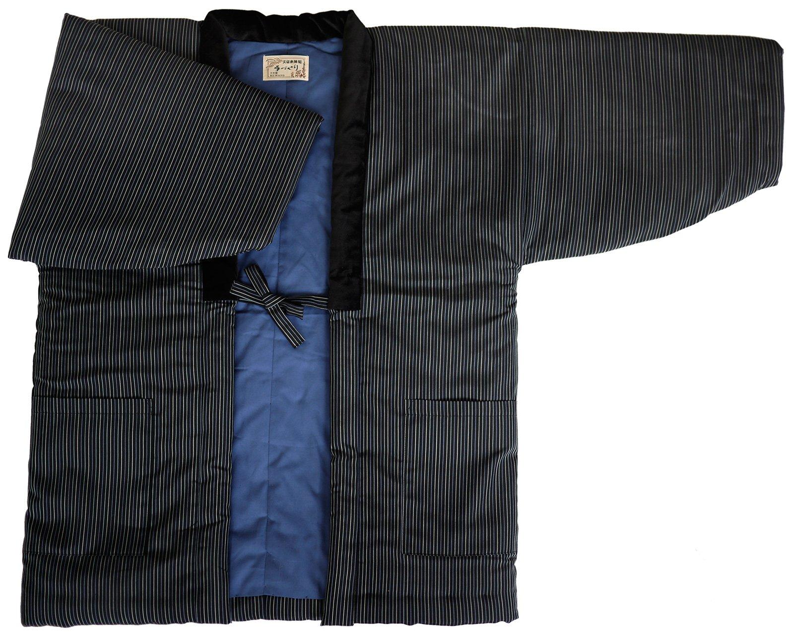 HANTEN (Cotton jacket made in Japan Kimono-style) ImportJapanese clothes size Men's (Medium, 76) by WATANOSATO
