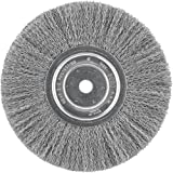 DEWALT Wire Wheel, 8-Inch, Crimped, 5/8-Inch Arbor, Wide Face, .014-Inch (DW4907)