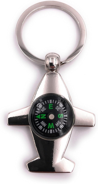 H Customs Flugzeug Flieger Mit Kompass Schlüsselanhänger Anhänger Spielzeug