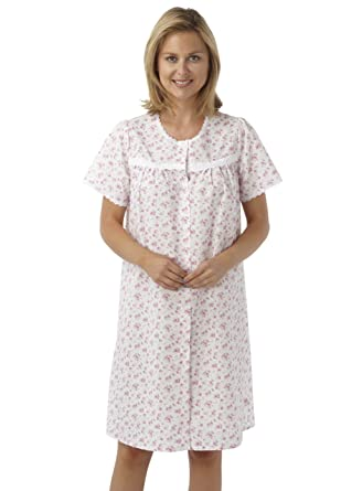Sockstack Ladies Floral Button Through Nightdress 228d1e6ae