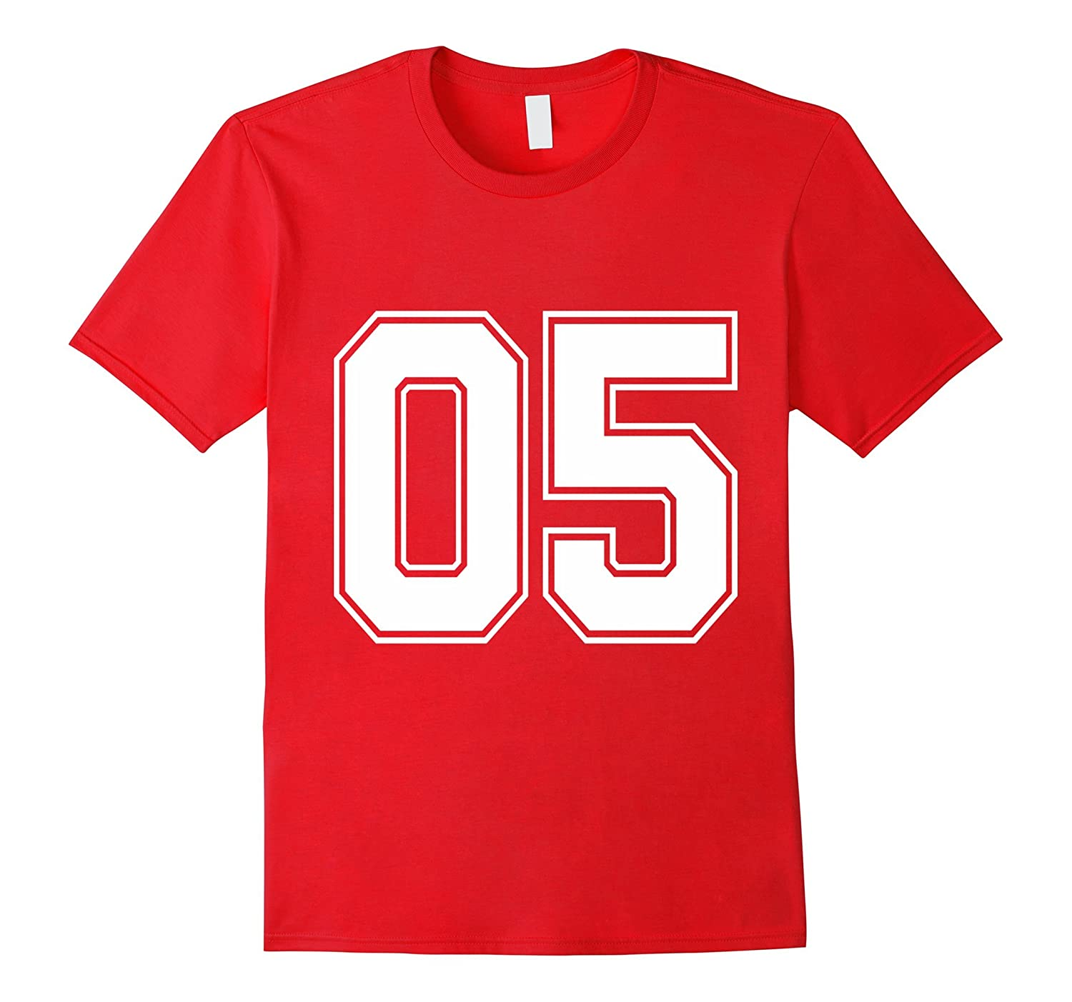 Number 5 Five 5th Birthday College Athletic Sport T-Shirt-BN