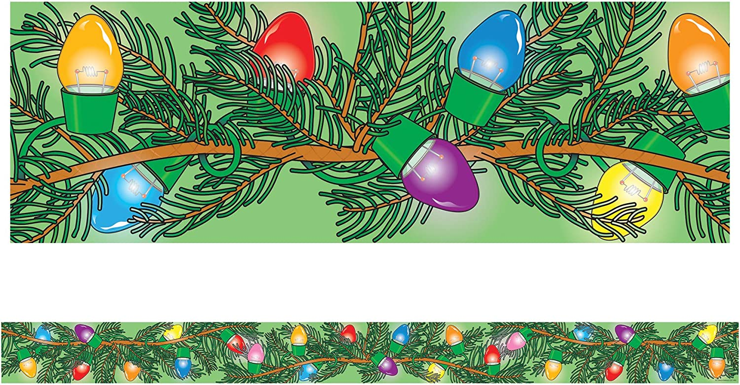 amazon com carson dellosa christmas lights borders 1465 themed classroom displays and decoration office products carson dellosa christmas lights borders 1465