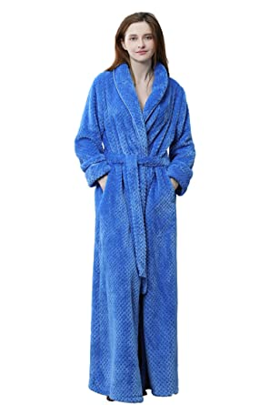 41c93d893d Cahayi Unisex Bathrobe Women Men Winter Thick Warm Long Robe Sleepwear  Housecoat