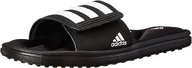 Bañera Intención Categoría  Amazon.com | adidas Performance Men's Zeitfrei FitFOAM Slide Sandal, Core  Black/White/Black, 11 M US | Sport Sandals & Slides