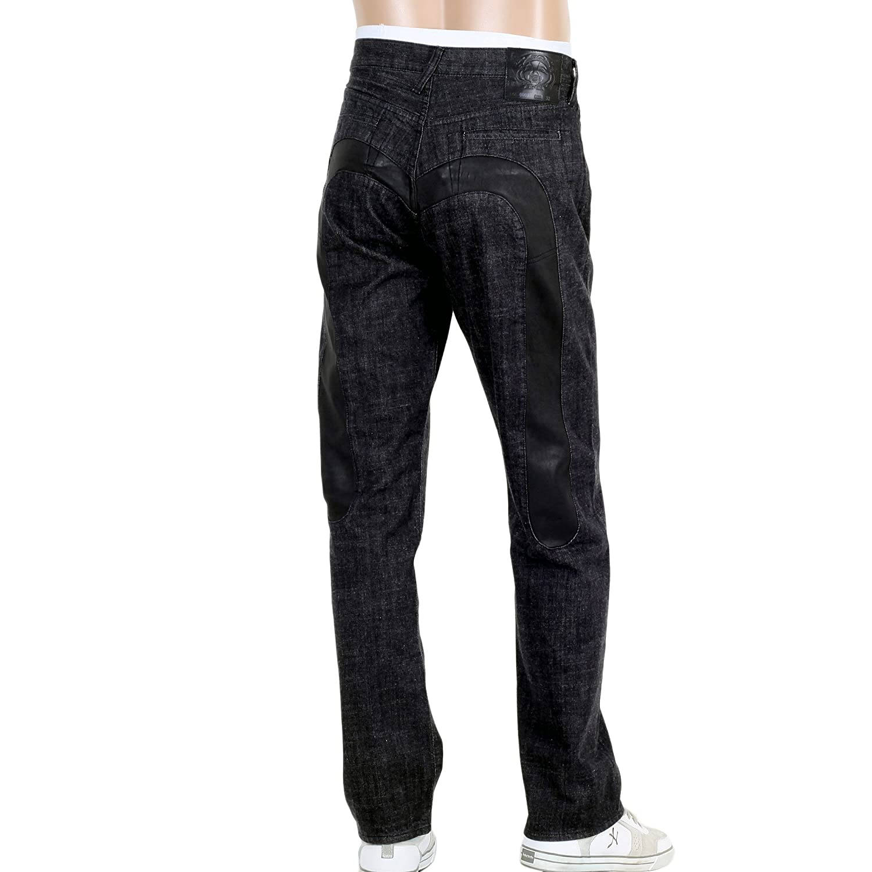 Evisu diacock EA04HJE08 D993 rinsed black denim jeans EVIS0684