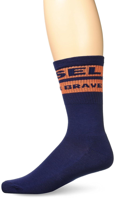 Diesel Men's Terry Cotton with Star Embroidery Socks Blue Sock Size: 24/Shoe Size:9-11 Diesel Men's Underwear 00S6U00WAGZ