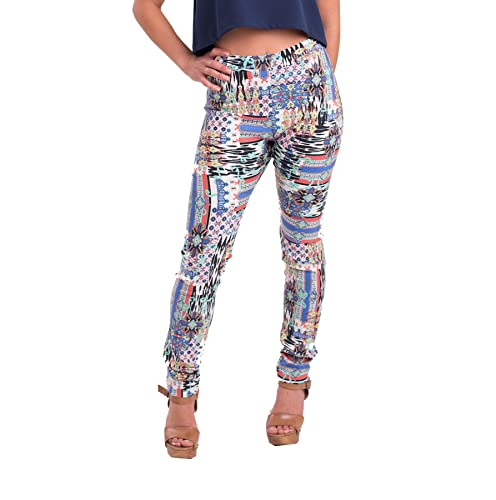 Susana Escribano P004-G_46, Pantalones para Mujer, Multicolor, 46 (Tamaño del Fabricante:G/46)