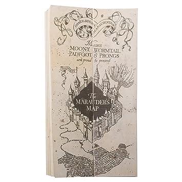 Pack Carta aceptación Hogwarts en Castellano Personalizada y Mapa merodeador Harry Potter
