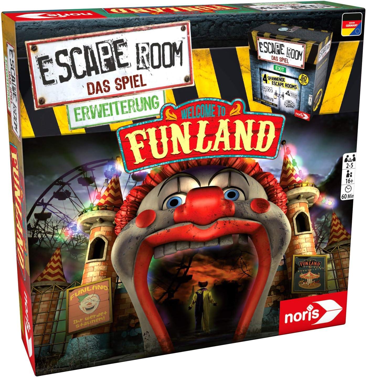 noris Escape Room Funland Niños y Adultos Deducción - Juego de ...