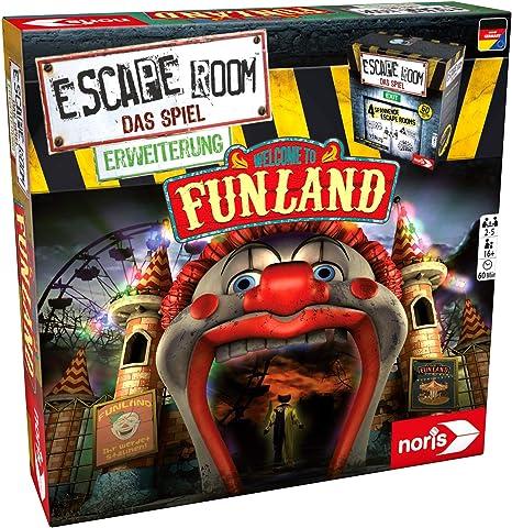 Noris Escape Room Funland Niños y Adultos Deducción - Juego de Tablero (Deducción, Niños y Adultos, 60 min, 16 año(s), Caja Cerrada): Amazon.es: Juguetes y juegos