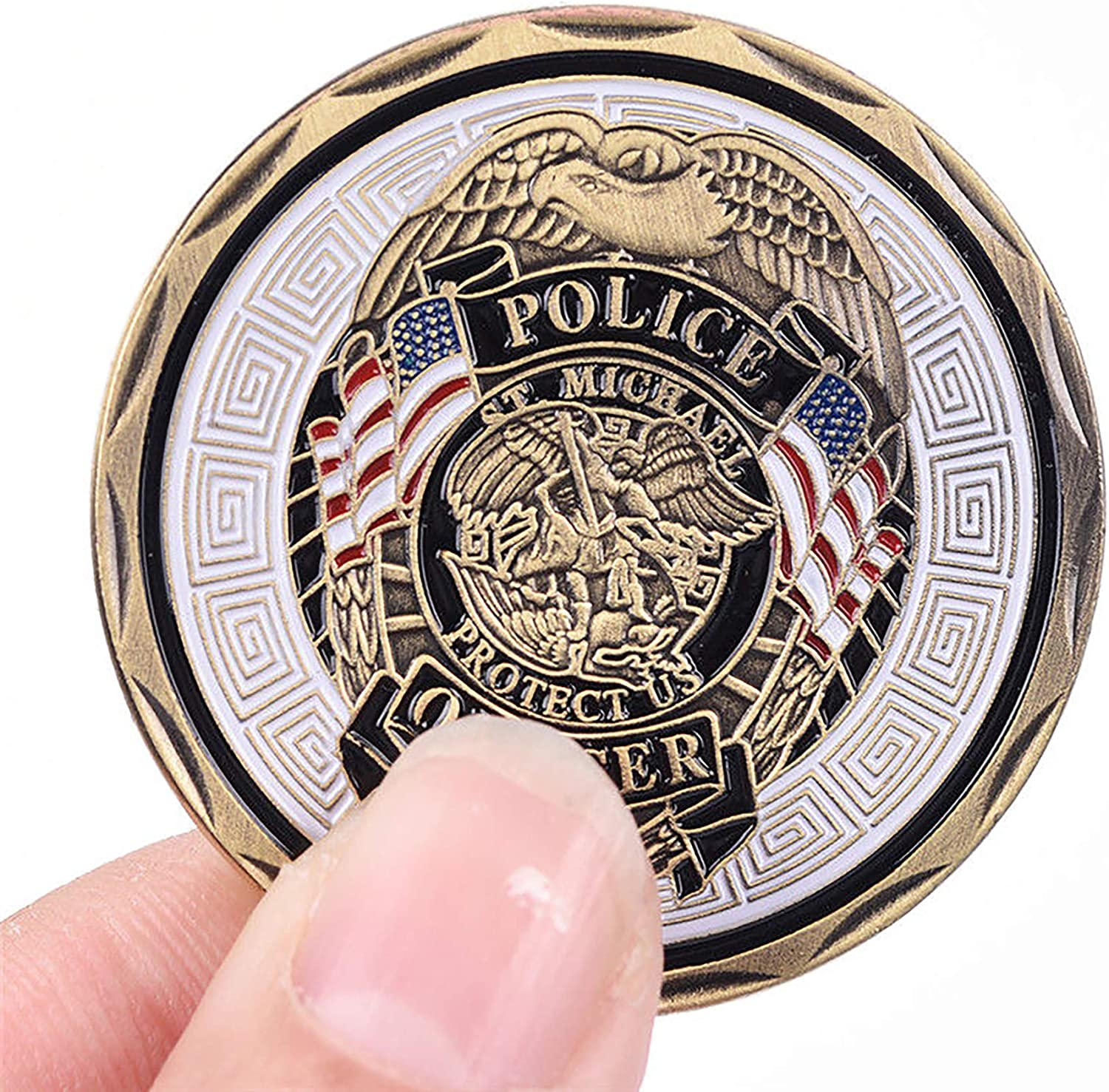 Strugglejewelry Police Officer St Michael Law Enforcement Challenge Coin