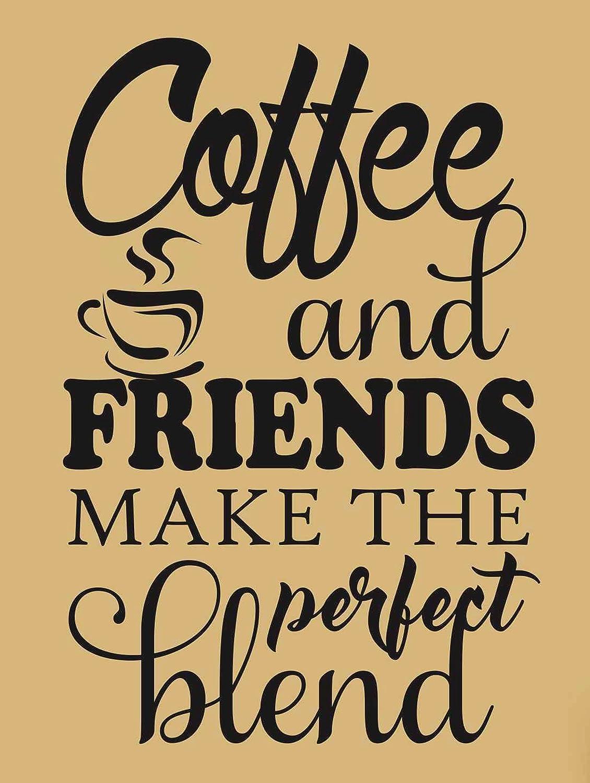 Kaffee und Friends Make die perfekte Mischung retro Metall blechschild Wandschild Neuheit Geschenk K?che