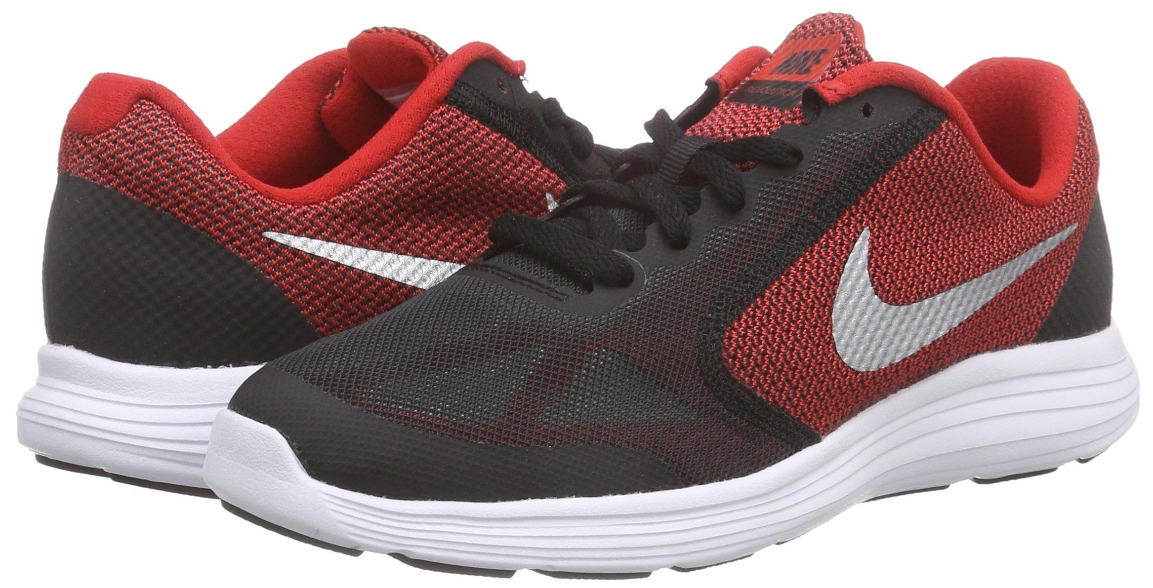 NIKE Boys' Revolution 3 Running Shoe (GS), University Red/Metallic Silver/Black, 3.5 M US Big Kid by Nike (Image #5)