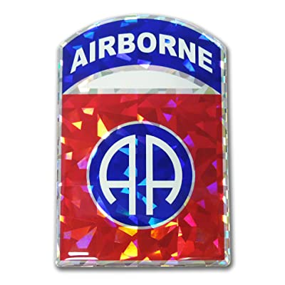 Elektroplate U.S. Army 82nd Airborne Red 3D Reflective Decal: Automotive