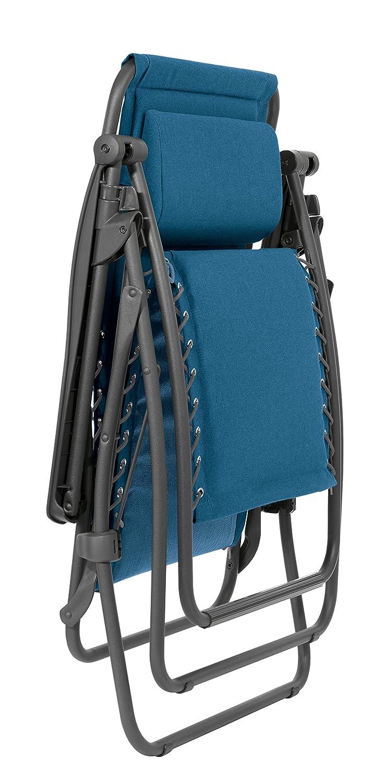 grau Polyester//Baumwolle Mit Schn/ürsystem ardoise RSX Lafuma Relax-Liegestuhl Klappbar und verstellbar