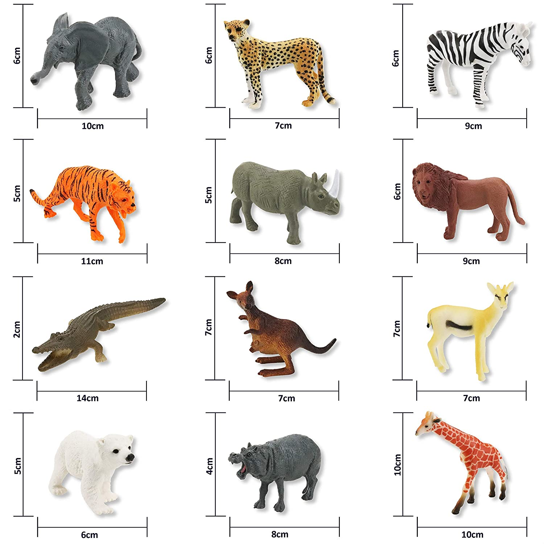 Conjunto Granja Caja En Plástico De Animal Figuras Juguete stdCQrxh