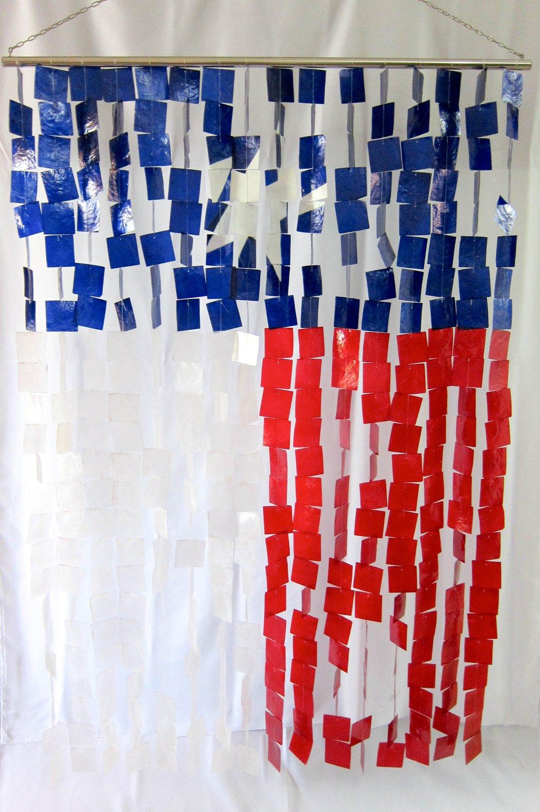 Capiz Shell Texas Flag