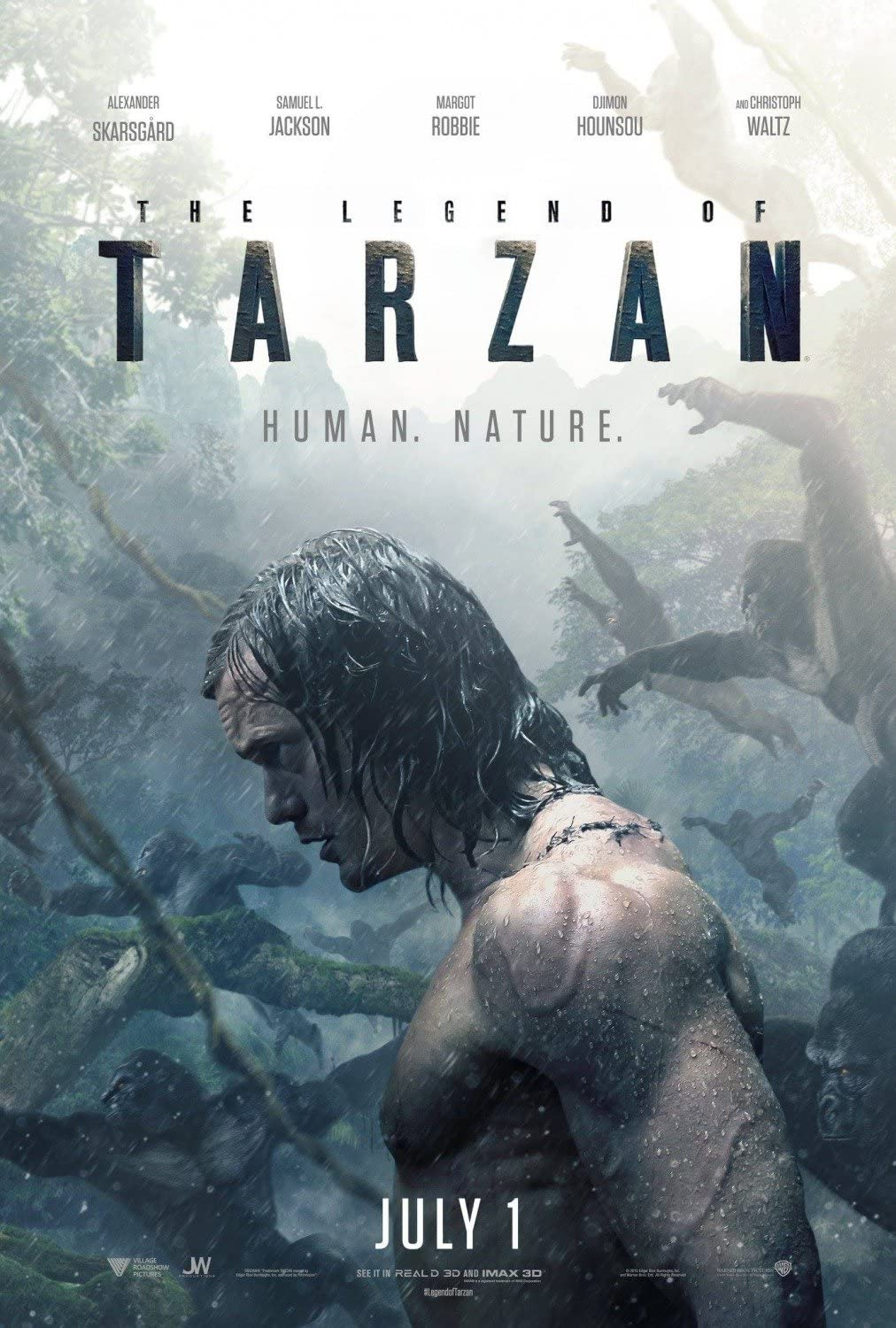 THE LEGEND OF TARZAN Original Movie Poster 27x40 - DS - ADVANCE - ALEXANDER SKARSGARD - MARGOT ROBBIE