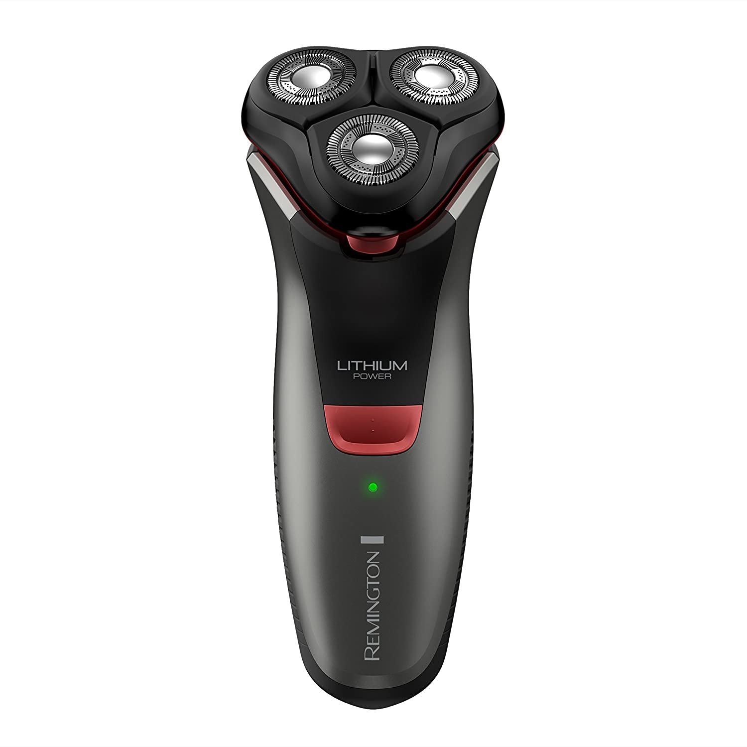 Remington R4000 Series Electric Rotary Shaver, Fully Washable, Black Red, PR1340 Renewed