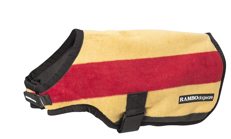 Rambo Deluxe Dog Jacket XX Small Whitney Stripe gold